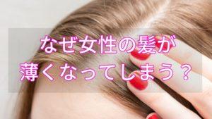 女性の髪が薄くなる原因