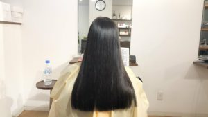 わたしのきまりクリームシャンプーで洗った後の髪。50代女性・白髪染めをした髪